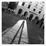 Mi sombra en la Plaza Mayor